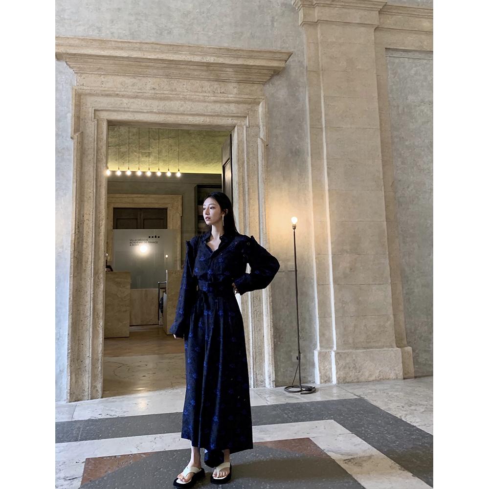 SURBLUE SENIOR 久等的罗马夜晚 定制印花上衣气质裙裤夏季套装~