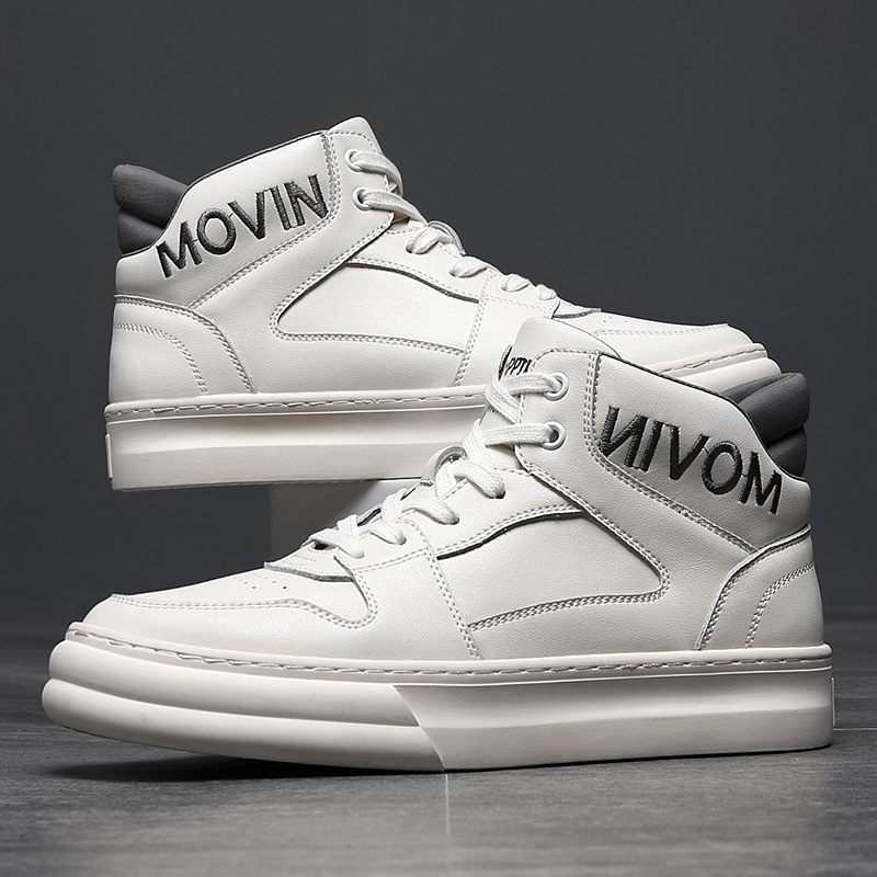Winter 2020 casual shoes mens high top board shoes Korean fashion shoes jeans with white trend mens shoes