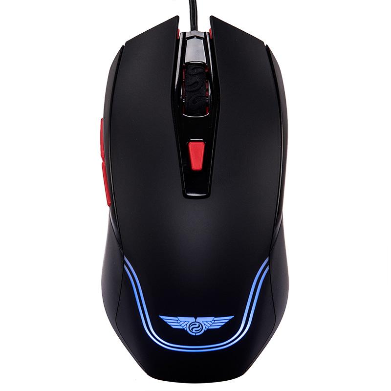 新贵 猎鲨豹2200/N410有线光学游戏鼠标办公游戏笔记本台式机USB