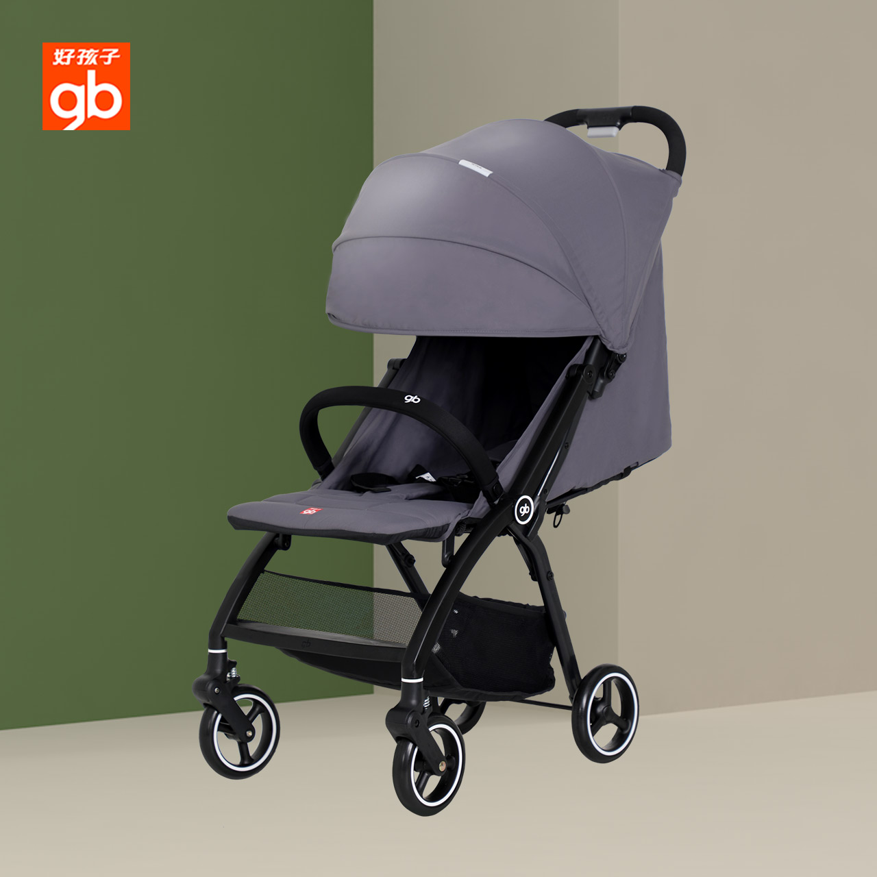 gb好孩子婴儿推车儿童轻便折叠推车车可坐可躺婴儿车可上飞机D643
