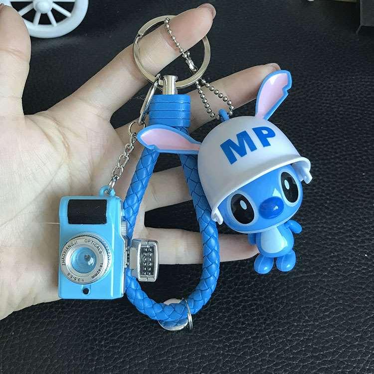 钥士妮史奇仔公仔滴o匙挂件定制史迪迪包包配件猫爪铃铛相机钥匙