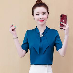 雪纺衫2021短袖新款韩版夏装打底衫