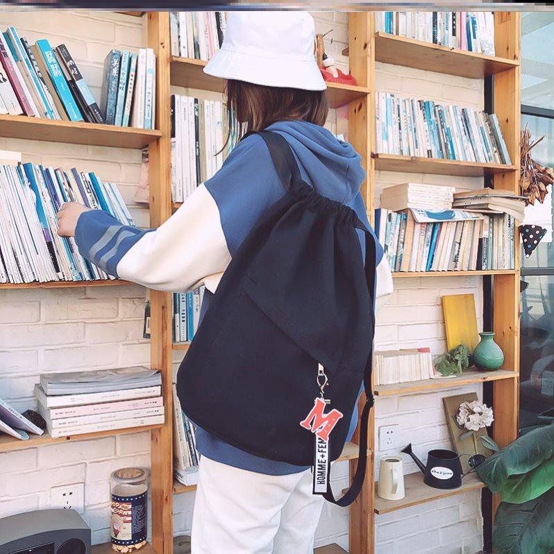 中國代購 中國批發-ibuy99 足球 拉绳双肩包女抽绳运动装字母旅行袋排球足球训练学院风骑行包网袋
