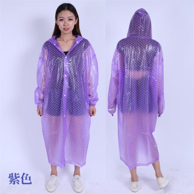 加厚连体水晶雨衣大褂 徒步户外旅行长款雨披 透明时尚女款雨衣