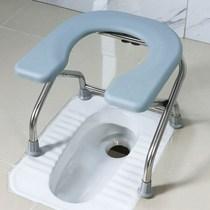 马桶架子老人家用U板折叠坐便椅孕妇坐便器大便椅不锈钢厕所椅子