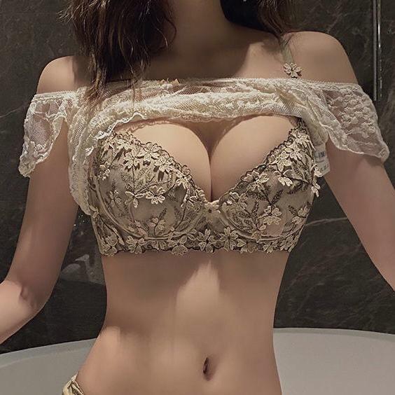 内衣内裤一整套内衣裤女成套女士2021新款套装胸罩和夏季薄款蕾丝
