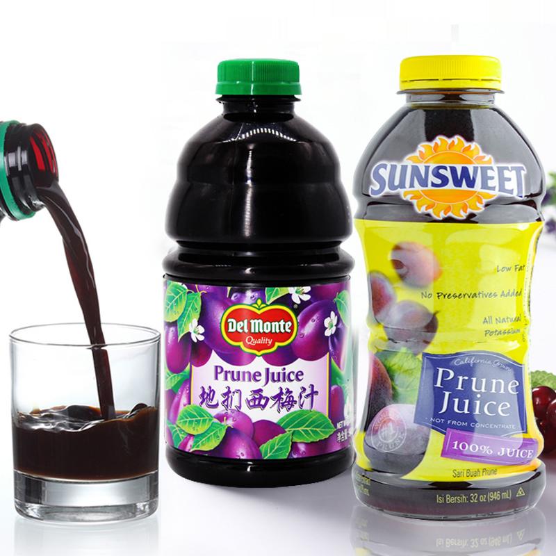 美国进口西梅汁地扪孕妇儿童老人果汁日光果蔬汁饮品饮料946ml