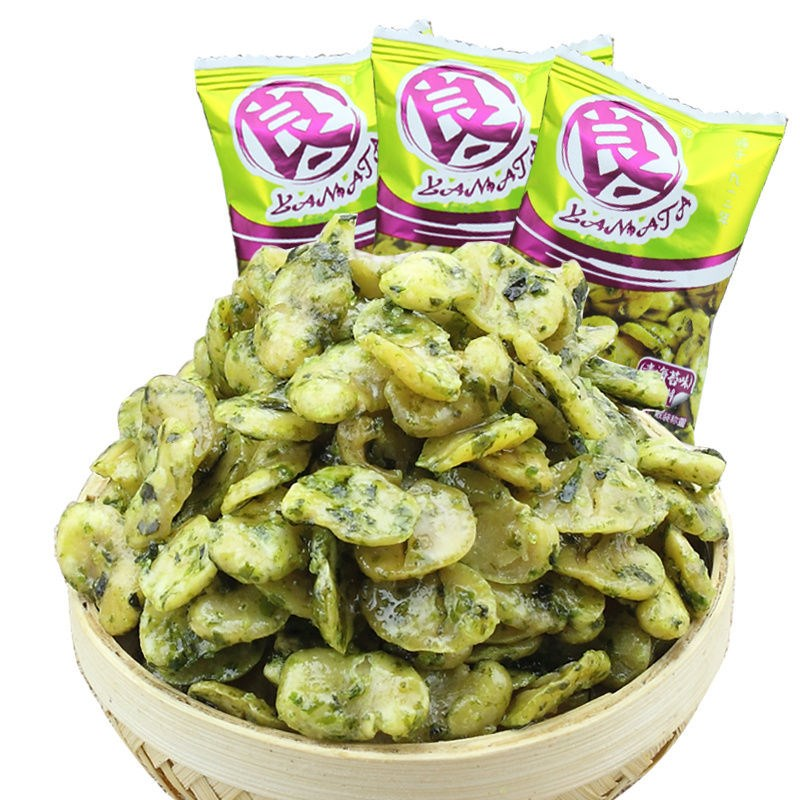 良一青海苔蚕豆瓣蟹黄味蚕豆零食散装兰花豆小包装炒货蚕豆