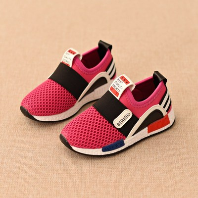 2017 spring children's sports shoes boys net shoes girls casual shoes Korean shoes breathable single shoes baby shoes