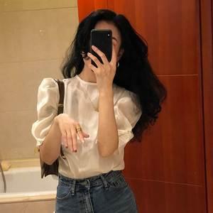 白色短袖衬衫女薄款