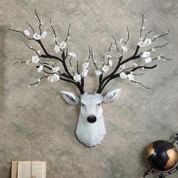 招财鹿头壁挂壁饰客厅电视背景墙面装饰挂件玄关墙上墙壁装修挂饰