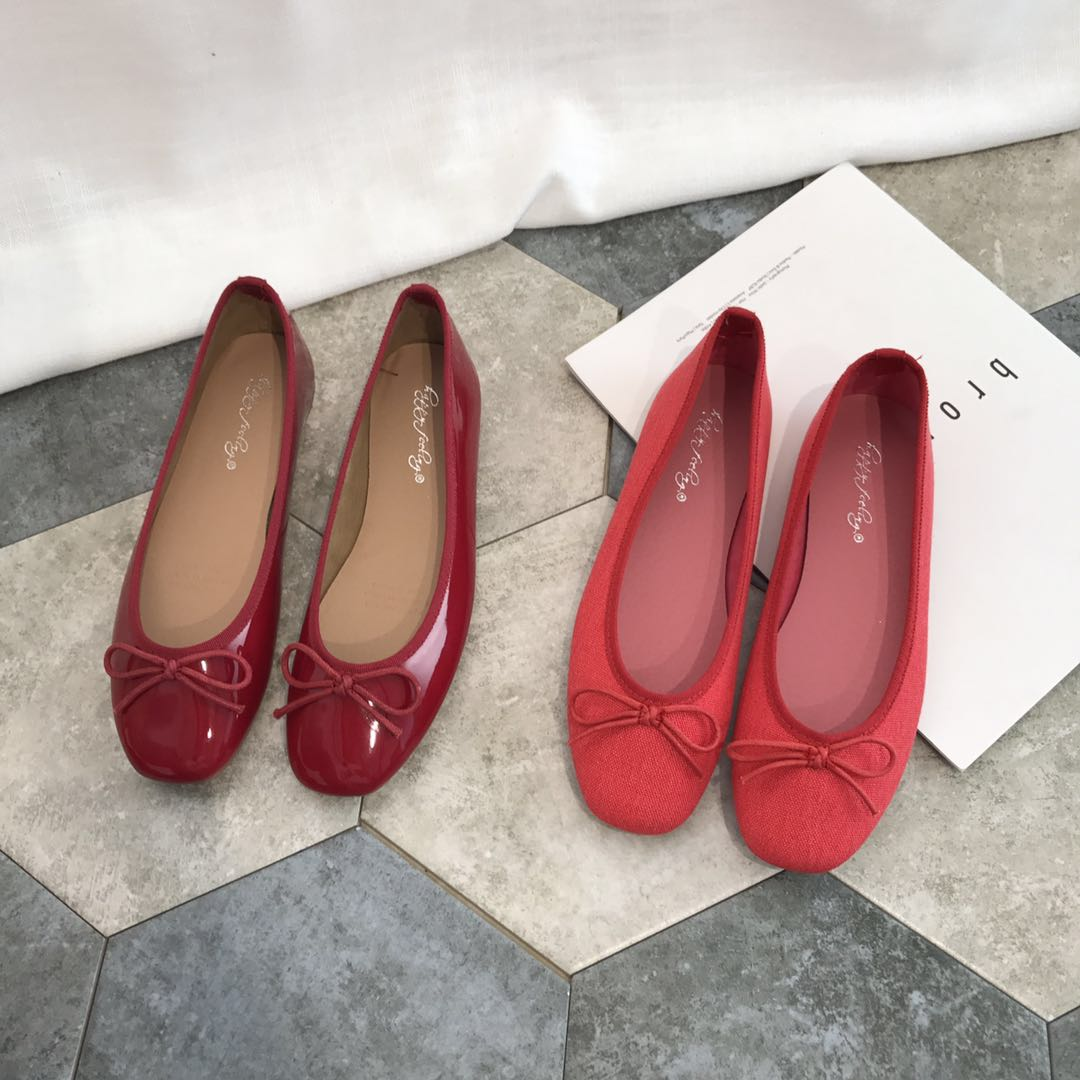 Flat bottom small red single shoes fairy shoes 2021 new soft bottom spring and autumn and winter gentle shoes ballet wedding shoes