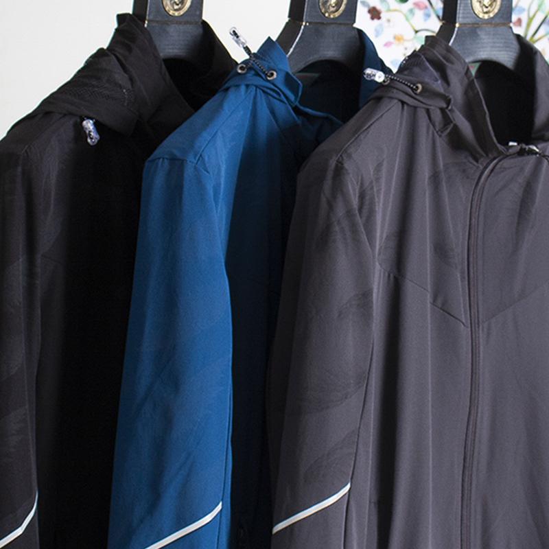 High end quality autumn mens hooded casual outdoor waterproof elastic hooded jacket jacket mens jacket