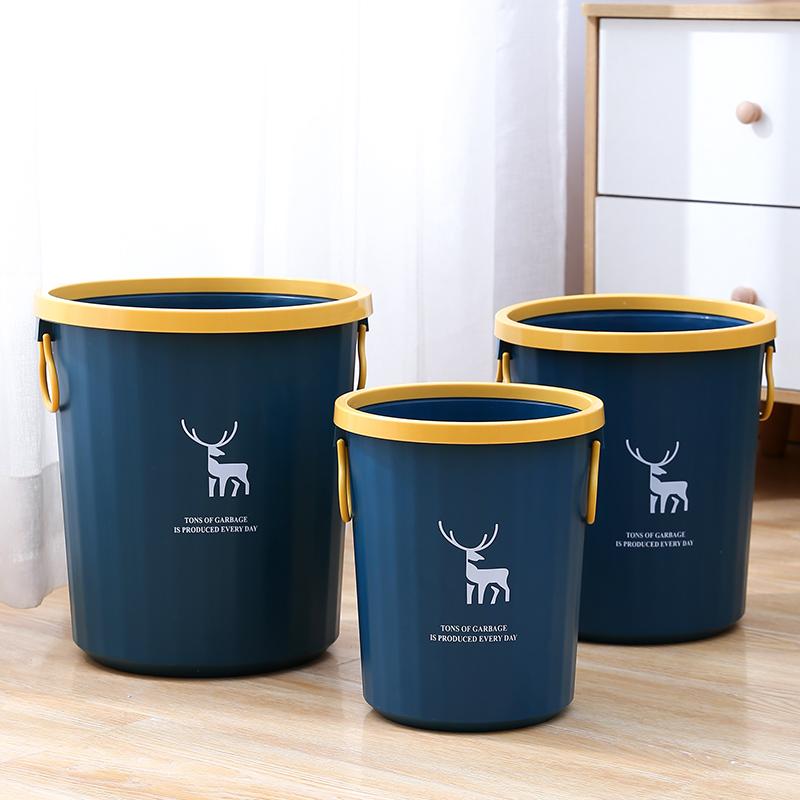 大容量网红清洁工具北欧时尚轻奢压圈垃圾桶厨房卧室办公室卫生间