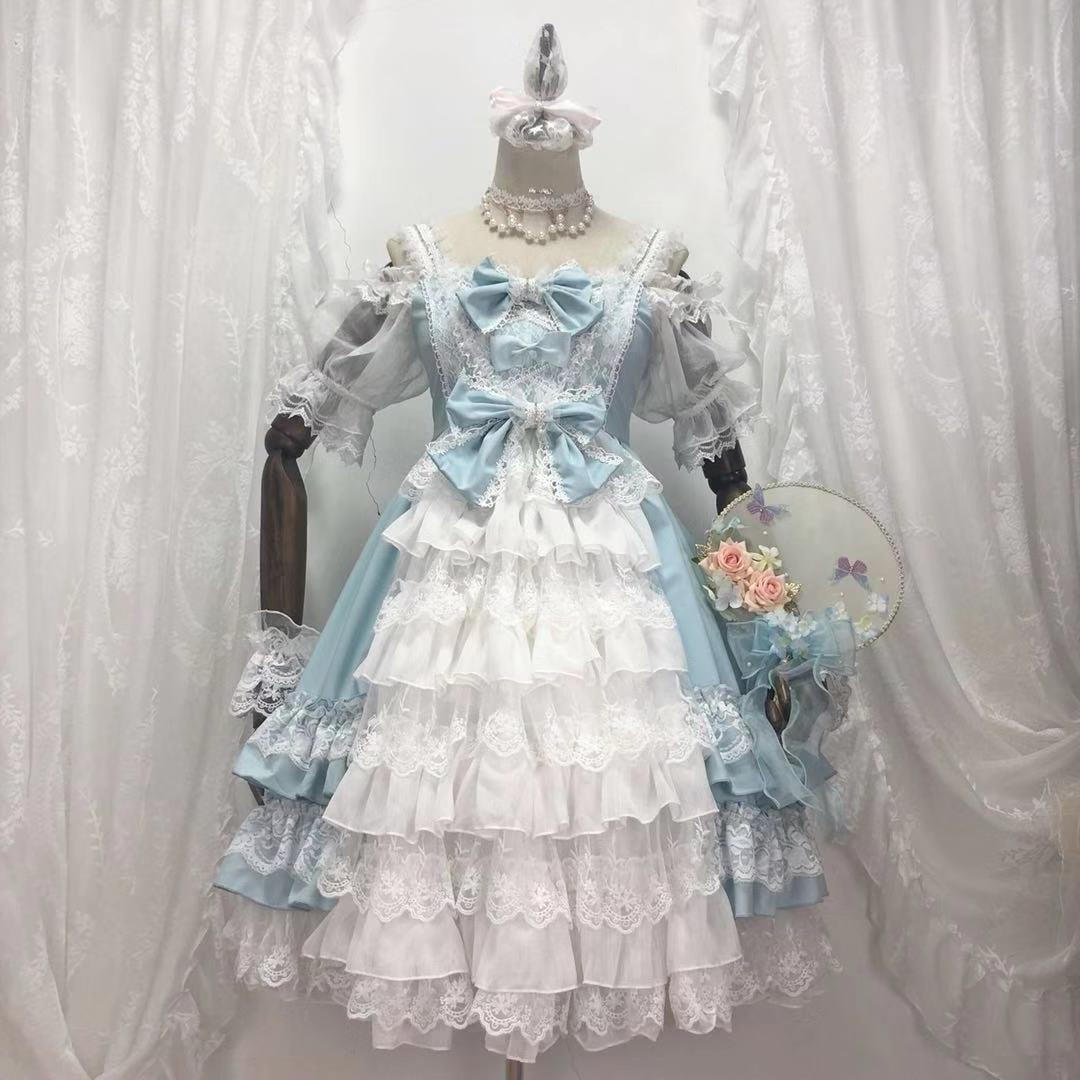 {现货}~原创设计蔷薇之恋Lolita洛丽塔洋装日常花嫁连衣裙