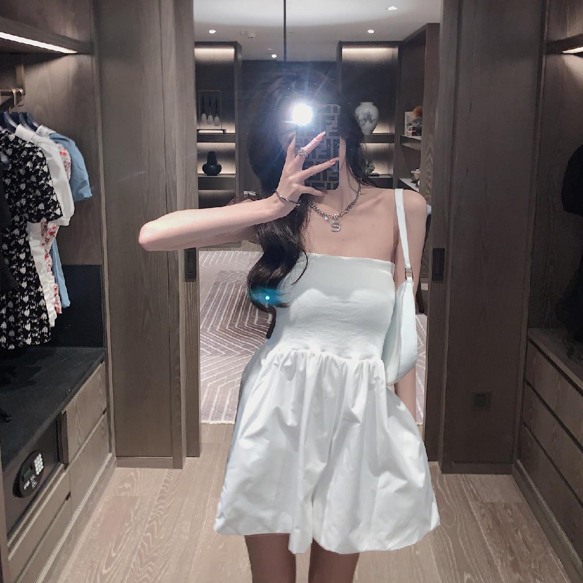 法式气质性感新款连体2021女衣橱裤裙百搭夏季连衣裙抹胸韩都