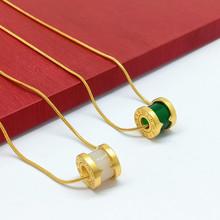 新款时尚仿玉转运珠吊坠女路路通气质百搭金色饰品