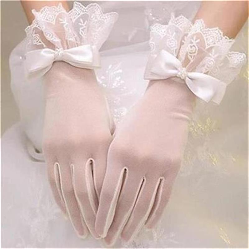 丽塔黑色复e古法式白丝手套长款蕾色红J色L婚礼T手纱缎面超仙森系