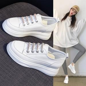 水钻内增高夏季透气百搭小白鞋女鞋