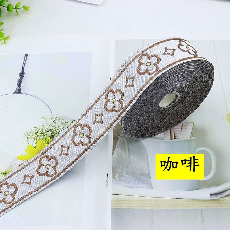 Sofa cushion pillow decorative lace r curtain jacquard webbing splicing accessories lace clothing belt