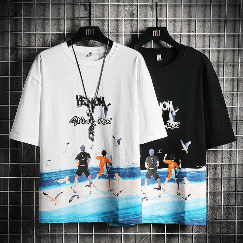 国潮李宁联名青少年夏季短袖t恤12-15岁大童男装13初高中学生纯棉