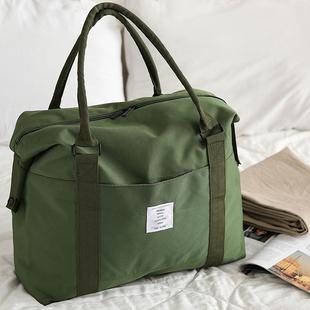 旅行袋子手提行李包网红单肩短途帆布旅行包女大容量斜挎收纳包男图片