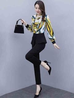 气质职业套装2021年新款女装春秋装网红时尚减龄洋气早秋季两件套