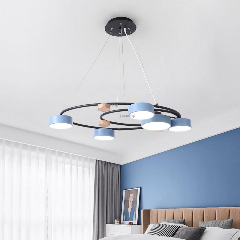 Modern Decor LED Solid Wood Pendant Lights Nordic Simple Han