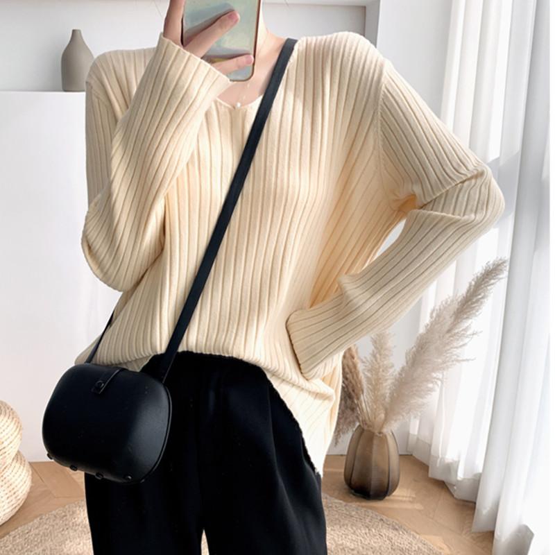 大码女装2021秋冬季新款胖mm宽松针织衫上衣显瘦长袖打底衫毛衣潮