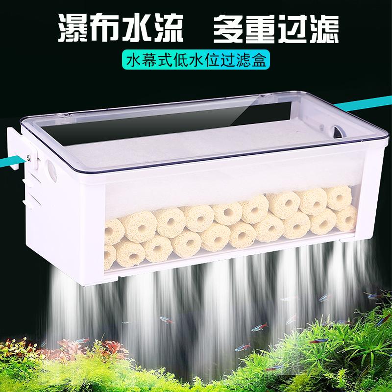 静音过滤器水幕式水泵低水位乌龟缸需要用券