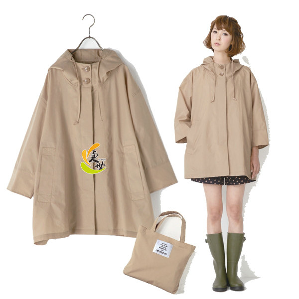出口蝙蝠时尚风衣轻薄防水透气斗篷女士雨K衣R-1017雨披抗UV