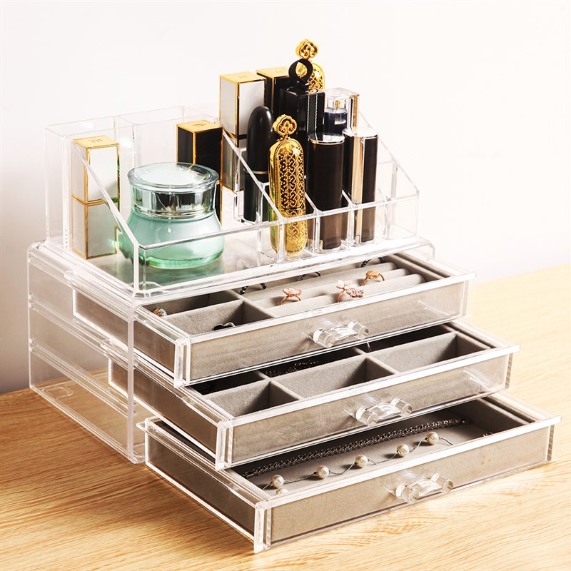Packing jewelry ring storage box transparent simple acrylic North f European style jewelry solid color Earrings public hair