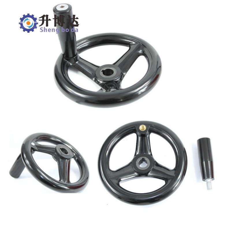 圆轮缘手轮胶木三幅手轮机床手轮 塑钢手轮100-300-tmall.com锟斤