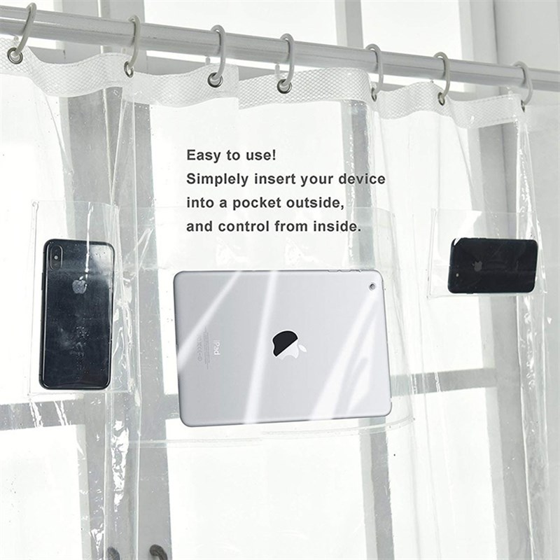 收纳防水帘袋子挡水门帘放手机电子产品个K性口袋高清透明塑料浴
