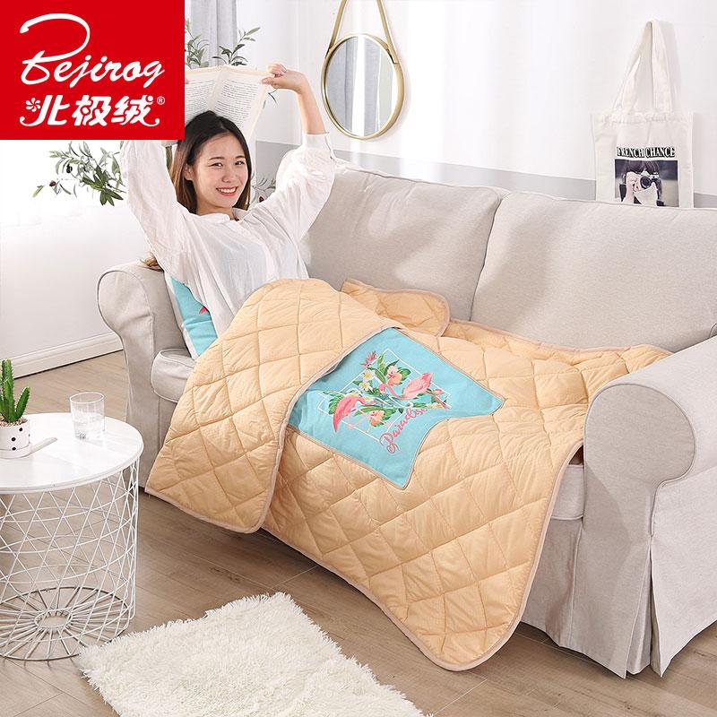 北极绒折叠抱枕被子两用汽车靠垫沙发靠枕办公室午睡空调被二合一