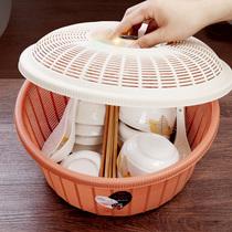尚动厨房可伸缩水槽沥水篮多功能塑料碗碟架洗菜盆水果蔬菜滤水篮