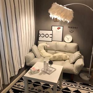 出租房卧室房间双人沙发小户型客厅简易可折叠拆洗宿舍懒人沙发床