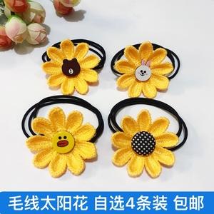 韩版女童向日葵发绳儿童宝宝皮筋发圈太阳花橡皮筋可爱头绳饰品女