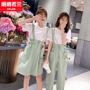 背带裙子少女夏季2020年新款初中学生连衣裙韩版日系闺蜜姐妹套装