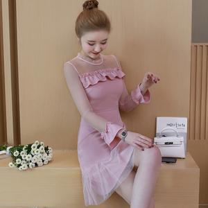 8104 实拍2018春装新款 网纱个性连衣裙女装