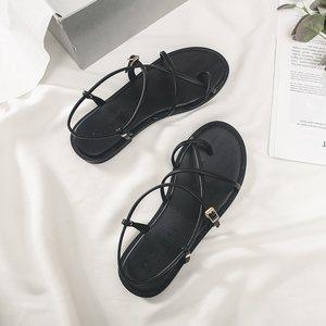 【清仓价88元】夏季新款平跟露趾凉鞋