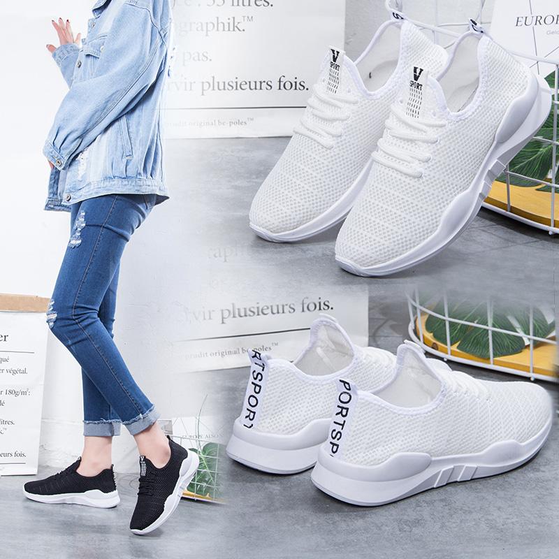 2018夏季新款网面运动鞋女韩版ulzzang原宿百搭透气休闲跑步鞋女