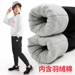 女童棉裤冬装加厚加绒外穿儿童裤子三层夹棉北方一条过冬大童保暖
