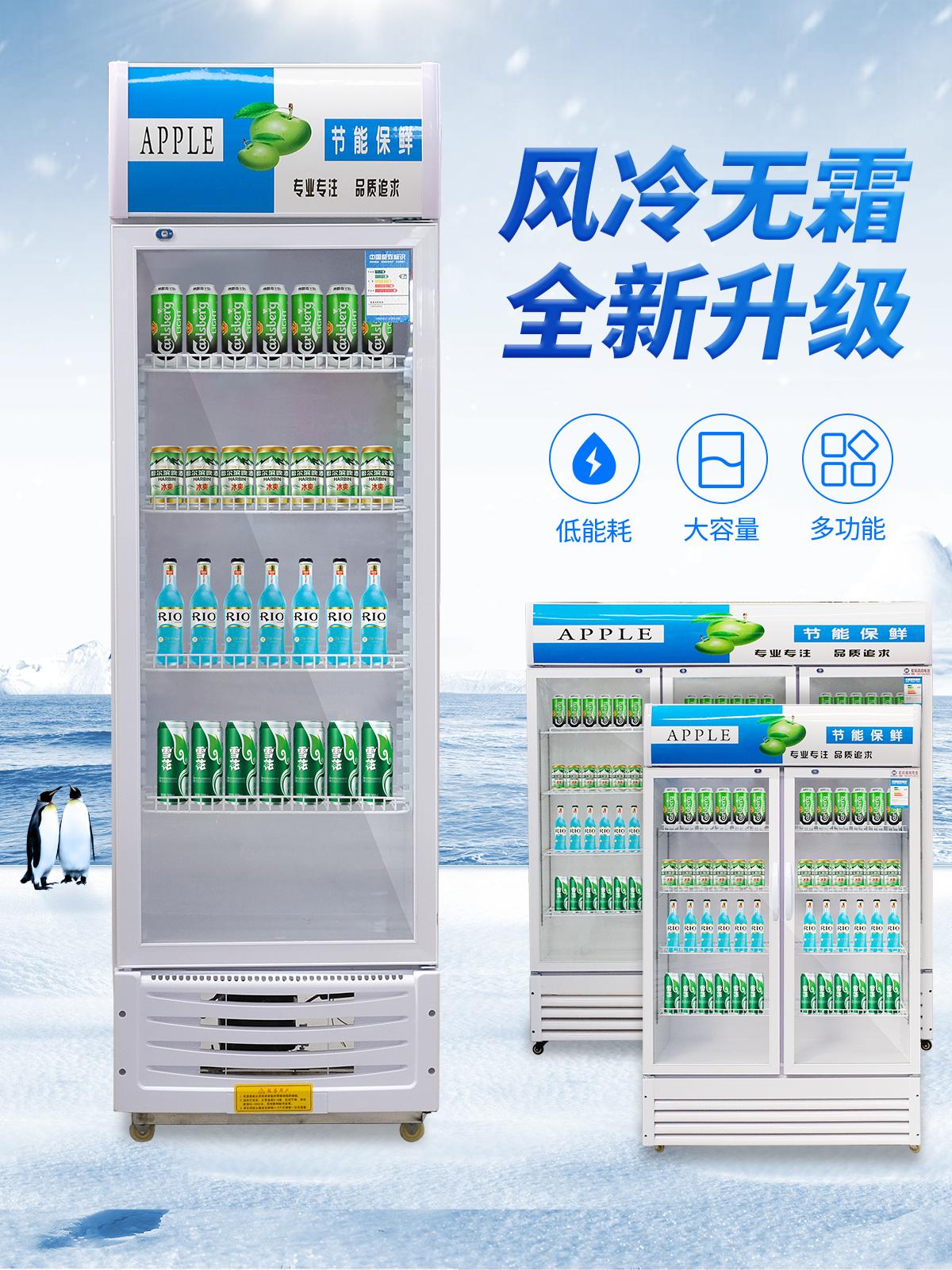 798.00元包邮节能展示柜商用立式冰柜冰箱冷藏超市单门双门三门啤酒水果保鲜柜