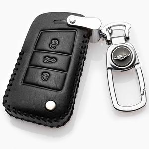 斯柯达明锐钥匙套真皮专用2021款大众斯柯达明锐pro汽车扣男士包