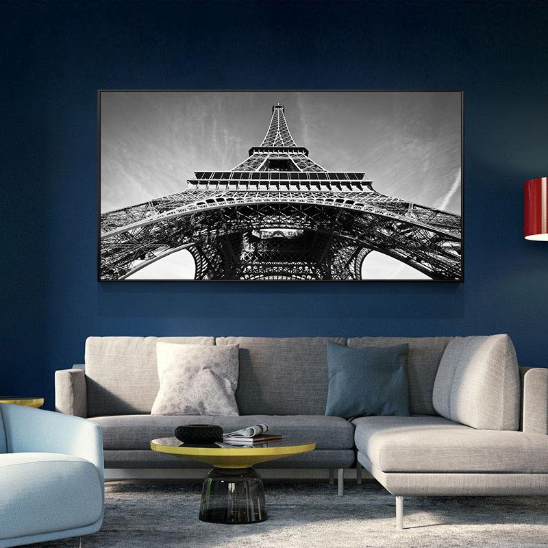 黑白沙发背景墙北欧简约主题挂画