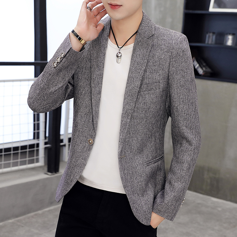 Suit mens casual Korean slim single top youth handsome thin Blazer student suit trend