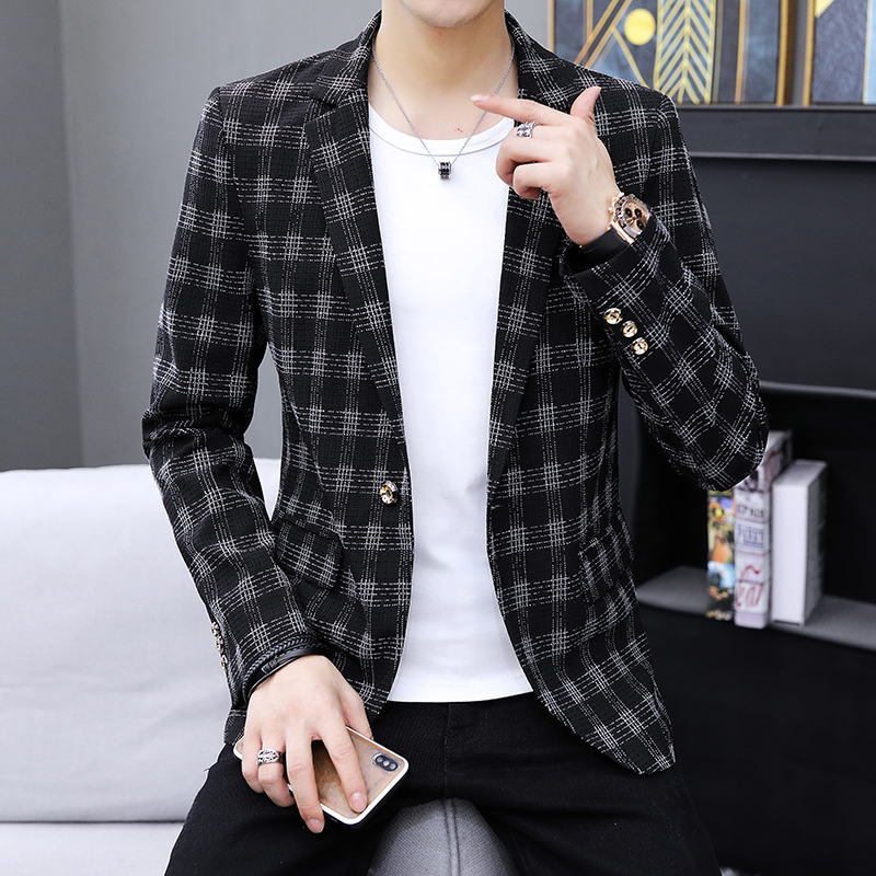 Jianmu Yishang new suit mens spring new top small suit Korean slim coat youth leisure trend