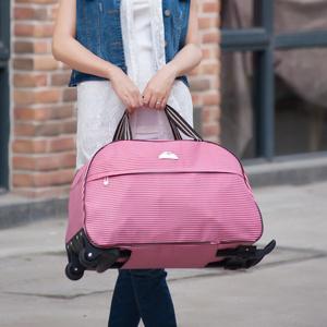 短途休闲手提拉杆包女可爱旅行包行李箱包学生轻便大手拖包拉杆袋