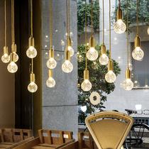 北欧单头黄铜床头小吊灯简约创意个性吧台咖啡厅复古loft店铺吊灯